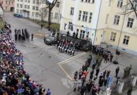 Vabariigi aastapäeva aktus on GAG-is ainuke pidulik sündmus, kus osalevad kõikide klasside õpilased korraga. Foto: Raivo Juurak