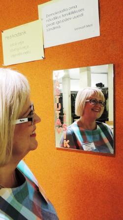 Heidi Uustalu Viljandi gümnaasiumis. Foto: Ene Nobel