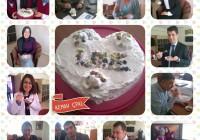 Türgi projektipartnerid küpsetasid Vana-Vigala retsepti järgi Vanaema koogi ning jäädvustasid fotole, kui väga see neile maitses. Foto: FOTO: Kemah Sulan Melik Multi-Programmed High School