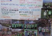 Õppeaasta projektidest valmis kevadeks koridori seinale suur galerii. Fotod: Tallinna Pääsusilma lasteaed