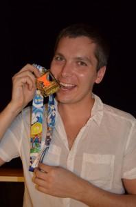 Uhke tunne: Rakvere ööjooksu korraldaja Marko Torm tänavu jaanuaris pärast Miami maratoni poolmaratoni distantsi läbimist.