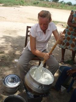 Liina Saaremäe üks ülesandeid oli sõpruskoolide toiduprojekti korraldamine.
