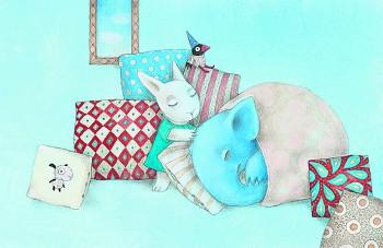 """Illustratsioon raamatust """"Sinivant läheb lasteaeda""""."""