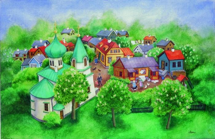 """Pilt Ilon Wiklandi raamatust """"Minu vanaema maja""""."""