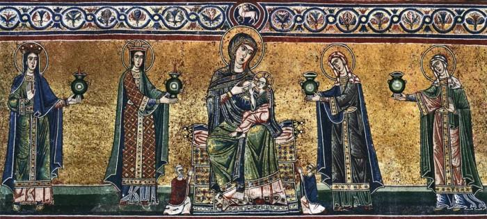 Caupo pidi käima ka Jõetaguses Maarja kirikus (Santa Maria in Trastevere) tulevase Vatikani taga. Paavst hakkas just parasjagu rajama sinna jumalariigi uut keskust. See on teadaolevalt esimene kirik, mis pühendatud jumalaemale, Caupo aga oli jumalaemale pühendatud Liivimaa esindaja.
