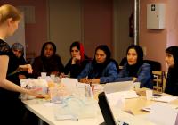 Afganistani ämmaemandatele avaldas loengutes ekstra muljet nende kui õpilaste arutellu kaasasime ning Eesti õppejõudude sõbralikkus. Foto: Kairi Ainjärv