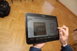 Näituse üks uuendus on tahvelarvutitel töötav programm.