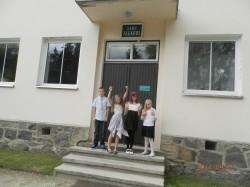 Lahu algkooli õpilased Joosep, Carolin, Kassandra, Marliis. Foto: Lahu algkool