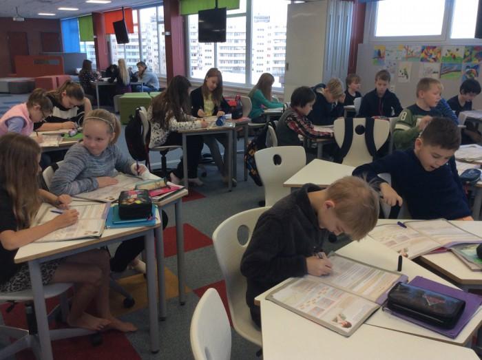 Projekti TULUKE raames valmis Tartu Hansa kooli ühes tiivas avatud õpperuum. Foto: Tartu Hansa kool