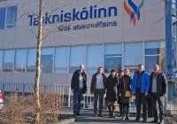 Õpirändajad Technical College in Reykjaviki ees. Foto: Tallinna ehituskool