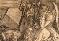 """Albrecht Dürer, vasegravüür """"Melencolia I"""", 1514."""
