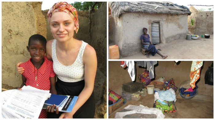10-aastane Mondo toetuslaps Mercy Amaha on juba neli aastat oma klassis parim. Tüdruk elab väga vaeses kodus. Fotol on Mercyl külas Viktoria Rudenko. Fotod: erakogu