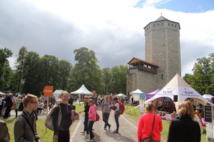 Paide Vallimägi oli arvamusfestivali ajal tihedalt rahvast täis, arutelud toimusid 40 kohas. Foto: Raivo Juurak