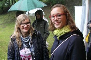 Hanna Britt Soots ja Katariina Sofia Päts Paides arvamusfestivali õpiorus. Foto: Raivo Juurak