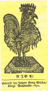 Forseliuse aabits, Riia kuninglik trükikoda, 1694.