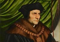 """Sir Thomas More.  Hans Holbein Noorem, 1527. Thomas More'i kurblooline lõpp oli tema kaasaegse võimu ja vaimu suhete mõistusevastasuse omamoodi kajastus: teinud hiilgavat karjääri, kaotas ta sõna otseses mõttes pea, kuna keeldus kuningas Henry VIII-t Inglise kiriku peaks tunnistamast. Varem oli ta pannud maha lordkantsleri ameti seoses kuninga abielulahutuse taotlusega. Teine kuulus Inglise utopistist lordkantsler Francis Bacon sai ligi sada aastat hiljem ametist lahti altkäemaksuvõtmises süüdistatuna. Tema utoopia  (""""Uus Atlantis"""", 1627) säilitas ühes eraomandusega iseloomulikult ka eliidi eesõigused."""