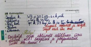 Sõnaline hinnang – palju informatiivsem kui number. Foto: Raivo Juurak