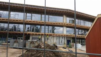 Põlva riigigümnaasiumi ehitus edeneb. Foto: Sirje Pärismaa