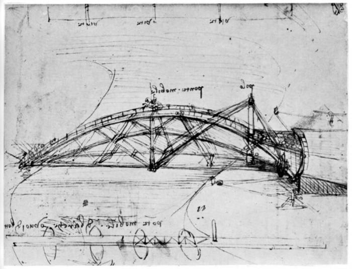 """""""Lihtsus on ülim keerukus!"""" – nõnda olla väljendunud Leonardo da Vinci. Lihtsuses peituvat võlu;  loe: keerukuses peitub võlu. Illustratsioon: Leonardo da Vinci pöördsilla kavand."""