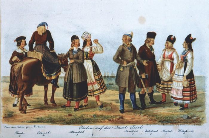 Saare naised, võimukad naised. F. Kruse. Necrolivonica, 1842.