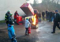 Tulekahju evakuatsiooniõppustel Kolga koolis on ehtsa tulekahju maiku. Foto: Marge Laisaar / Kolga kool