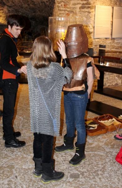 Suurtükitornis Kiek in de Kök saab õppida ajalugu keskaegse kohtumõistmise, relvastuse ja rüütlite näitel. Foto: Nadežda Saar