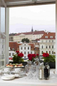 Vaade Õpetajate Maja Hansasaali aknast.
