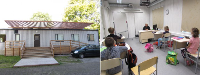 Märtsis avati koolimaja kõrval moodulmaja, mis on esimene moodulkoolimaja Tallinnas ja mis ruumikitsikust oluliselt leevendas. Hoones on seitse  hubast õppevahenditega varustatud klassiruumi, mis sobivad nii väikeklassidele kui ka neile õpilastele, kes vajavad individuaalset õpet. Foto: Tiina Vapper