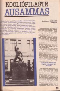 1992. aastal ilmus kooliõpilaste ausammast meenutav artikkel. Reaali Poiss taastati aasta hiljem.