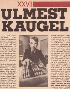 Fragment leheküljest looga koolipoiss Tarmo Uustalust. (Tiit Koha foto)