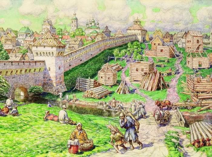 Moskva Kreml (17. sajand) Apollinari Vasnetsovi järgi.