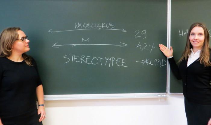 Praxise soolise võrdõiguslikkuse ekspert, TÜ soouuringute lektor Helen Biin ja Praxise haridusvaldkonna ekspert Eve Mägi. Foto: Sirje Pärismaa