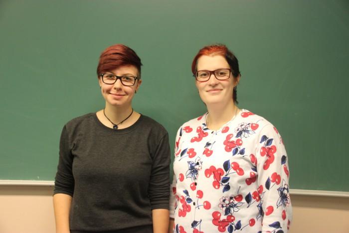 Sarah koos õpetaja Virgi Roopiga. Foto: erakogu
