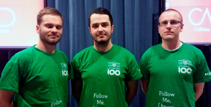 Tallinna tehnikakõrgkooli võidukas meeskond. Foto: Kadrina Keskkool