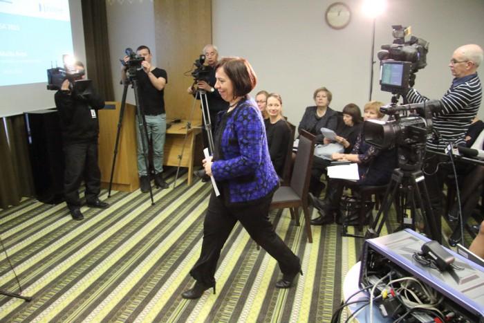 Mailis Reps 6. detsembril HTM-i Tallinna esinduses PISA pressikonverentsi eel. Varem on ta olnud haridusminister aastatel 2002–2003 ja 2005–2007. Foto: Raivo Juurak