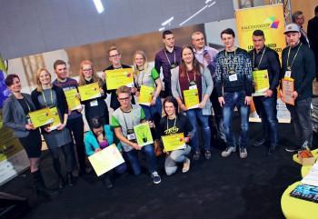 """TÜ ideelabori äriideede konkursil """"Kaleidoskoop"""" osalenud meeskonnad. Foto: Tartu ülikool"""