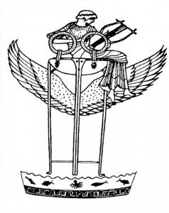 Apollon lendab tiivulisel kolmjalal. Kreeka vaasimaal, 500–475 eKr.