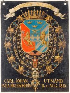 Sveade, norralaste, gootide ja vandaalide kuninga Karl XIV Johani vapp.