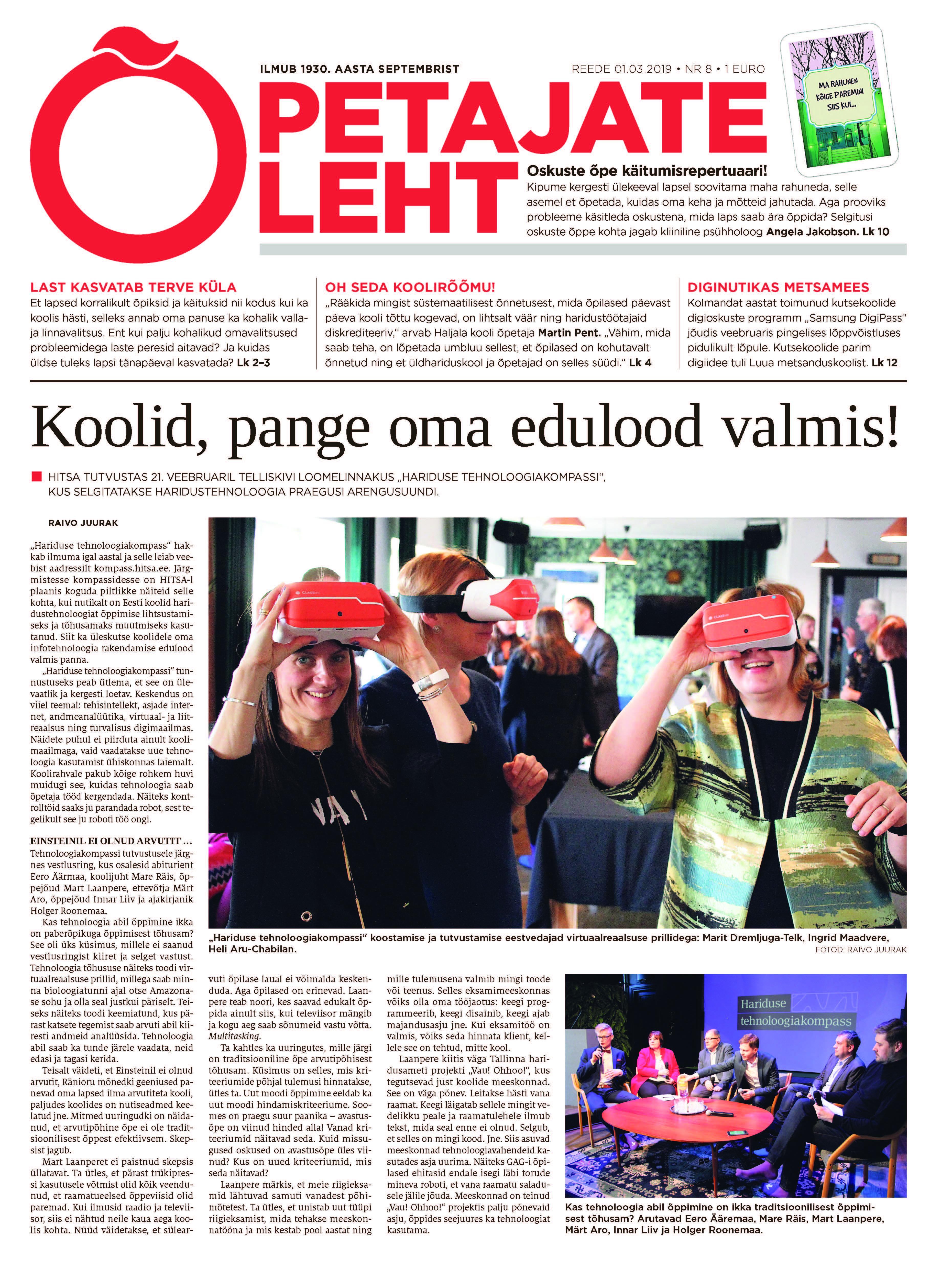 0d5b919145f Õpetajate Leht 1. märtsil : Õpetajate Leht