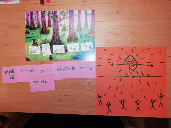 Märkmed, mida keeleõpetajatel paluti ühe ülesande raames teha.