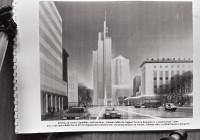 Kujutluspilt ja praegusaeg. Astlanda kõrgkompleks jäi kavandatud kujul rajamata. Autor Tõnu Altosaar (Toronto), kuulsamaid eestlasest arhitekte maailmas. Tema projekteeritud pilvelõhkujad ilmestavad nii Toronto kesklinna kui ka mitmeid maailma suurlinnu. Fotod: repro, Raivo Juurak