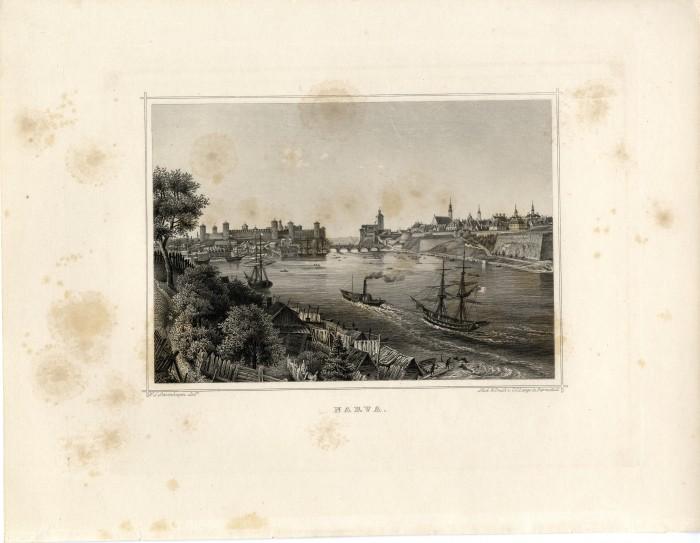 Laevad Narva jõel.  W. S. Stavenhagen, 1867.