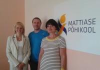 Mattiase põhikooli juhatus: vasakult Sirle Truuts, Valvo Paat ja Ave Kalmus. Fotod: erakogu