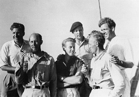 Kon-Tiki meeskond (vasakult kolmas Thor Heyerdahl). Fotod: internet