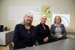 Õpetaja kutse taotlemise kevadvooru tähtaeg on 5. aprillil. Uue kutsesüsteemi eestvedajad Astrid Sildnik, Kristi Laidvee ja Margit Timakov.