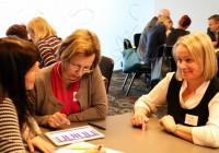 Parimate praktikate päeva töötoas said õpetajad nutiseadmete abil ka ise komponeerimist katsetada.  Foto: HTM