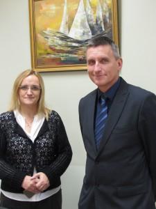 Õppealajuhataja Raina Vilkes ja direktori kt Veigo Juuse.