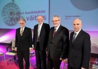 Andrus Salupere, Jaak Aaviksoo, Mart Ustav ja Jakob Kübarsepp. Foto: Raivo Juurak