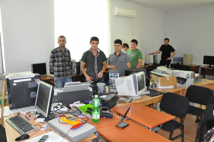 Arvutiklass Gruusias Kutaisi linnas asuvas Iberia kutsekoolis.