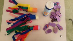 Õpilaste enda valmistatud rütmipillid. Foto: Kerttu Sepp